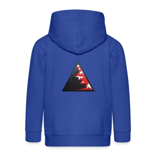 Climb high as a mountains to achieve high - Kids' Premium Zip Hoodie