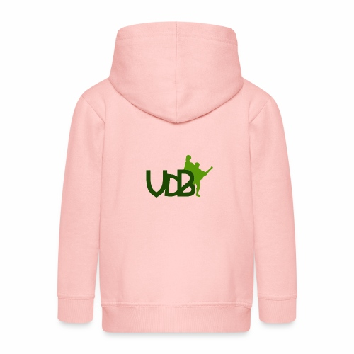 VdB green - Felpa con zip Premium per bambini