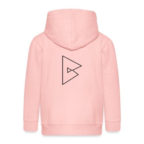 dstrbng official logo - Kids' Premium Zip Hoodie
