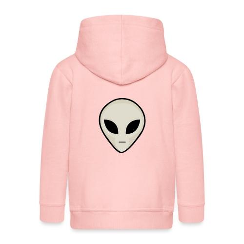 UFO Alien Head - Kids' Premium Zip Hoodie