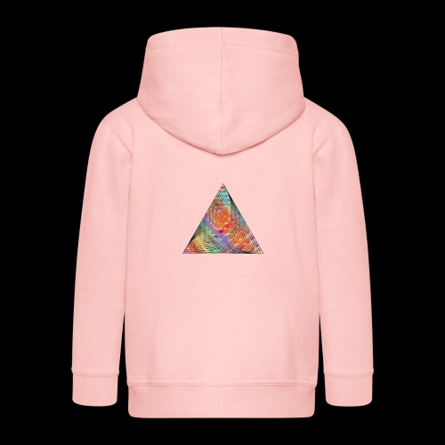 Triangle of twisted color - Kids' Premium Zip Hoodie