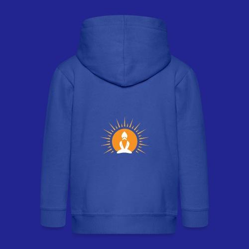Guramylyfe logo white no text - Kids' Premium Hooded Jacket