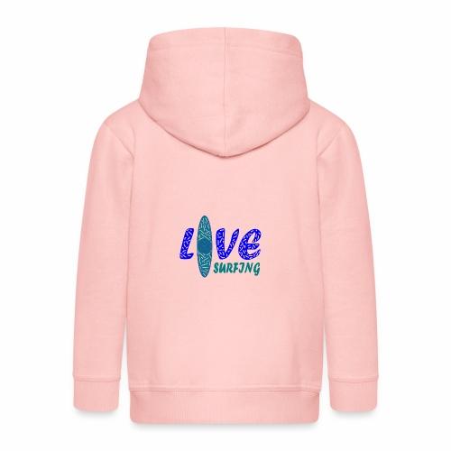 Love Surfing - Kinder Premium Kapuzenjacke