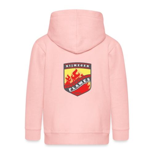 snapback pet rood/zwart combi - Kinderen Premium jas met capuchon