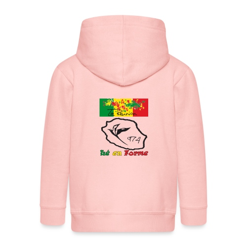 Design 974 le en forme - Veste à capuche Premium Enfant