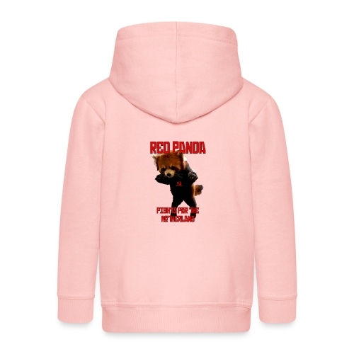 Red Panda Fights For The Motherland - Kids' Premium Zip Hoodie
