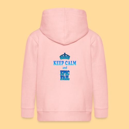 Keep Calm and... epic fail - Felpa con zip Premium per bambini
