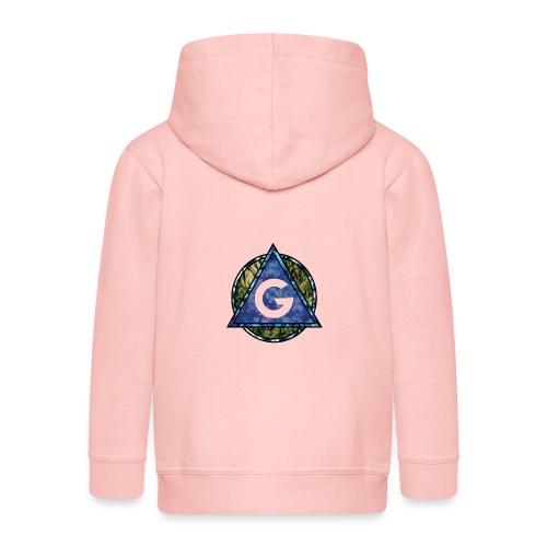 Grime Apparel Geo Print. - Kids' Premium Zip Hoodie