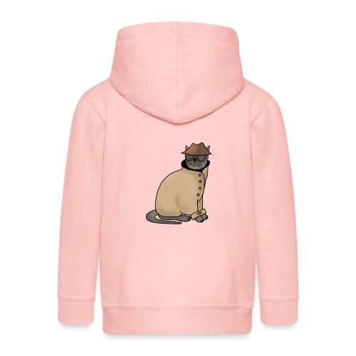 Secret cat - Kids' Premium Zip Hoodie