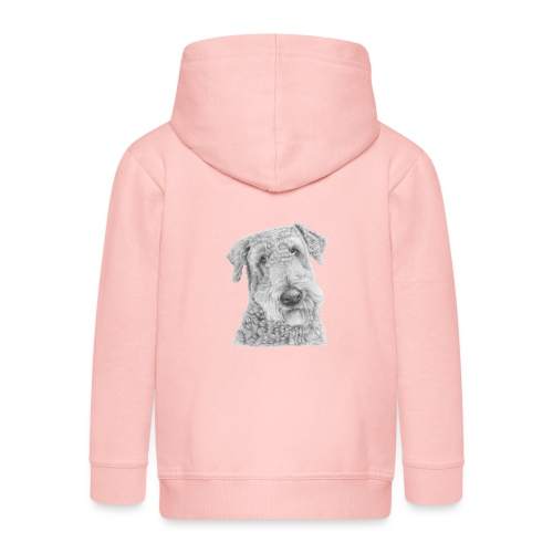 airedale terrier - Premium hættejakke til børn