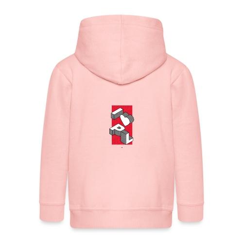 I heart PL I love Poland - Rozpinana bluza dziecięca z kapturem Premium