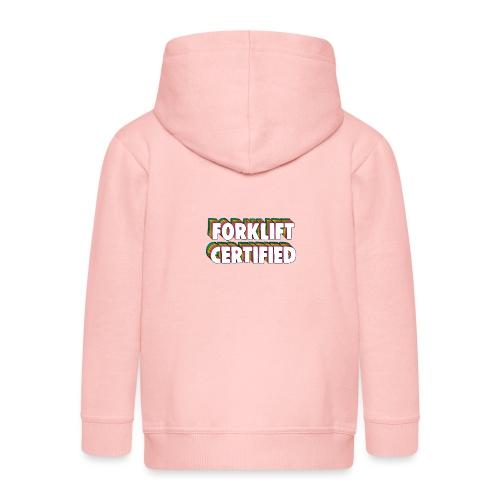 Forklift Certification Meme - Kids' Premium Hooded Jacket