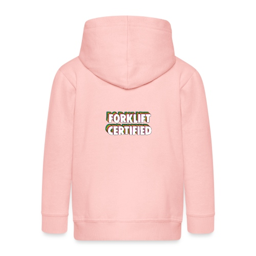 Forklift Certification Meme - Kids' Premium Zip Hoodie