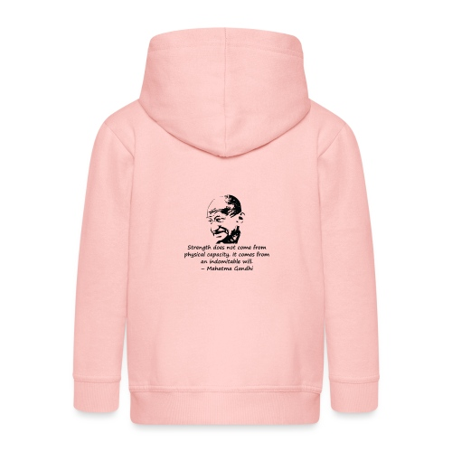 Strength Comes from Will - Kids' Premium Hooded Jacket