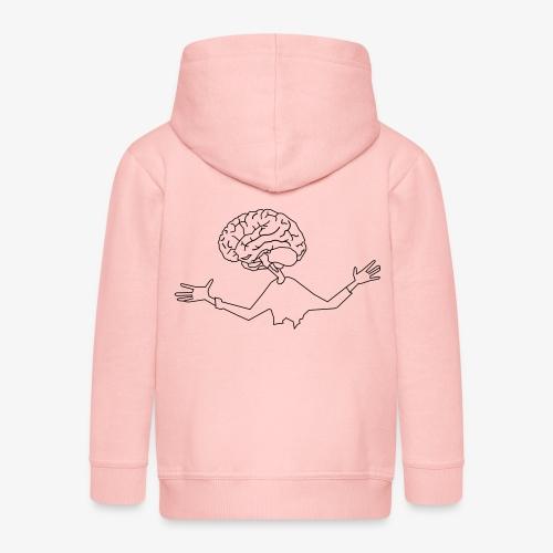 mózg - Rozpinana bluza dziecięca z kapturem Premium