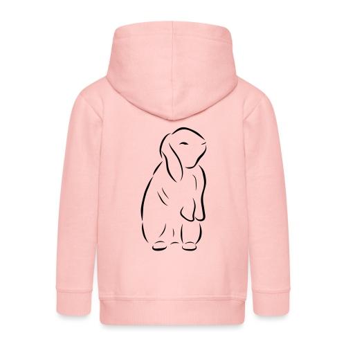 stehendes Häschen Hase Kaninchen Zwergkaninchen - Kinder Premium Kapuzenjacke