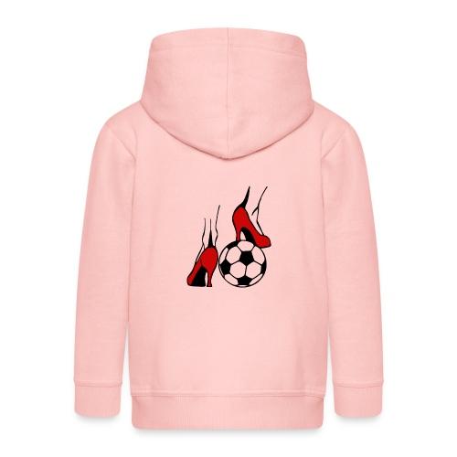 Frauenfussball - Kinder Premium Kapuzenjacke