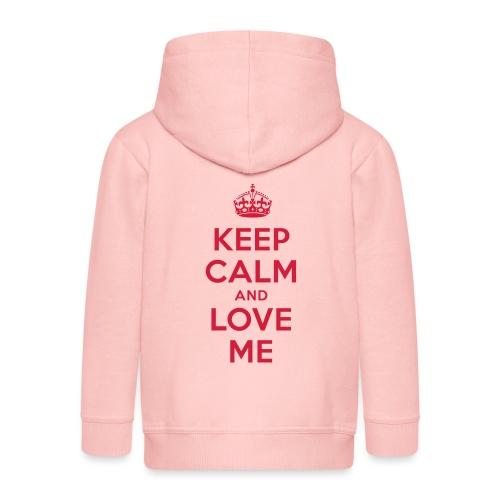 keep calm and love me - Kinder Premium Kapuzenjacke