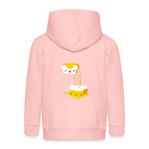 Cat sandwich gatto sandwich - Felpa con zip Premium per bambini