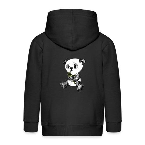 Panda bear colored scribblesirii - Kids' Premium Zip Hoodie