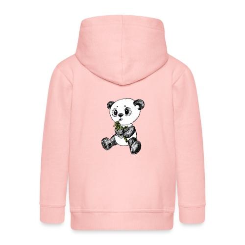Panda bjørn farvet scribblesirii - Premium hættejakke til børn