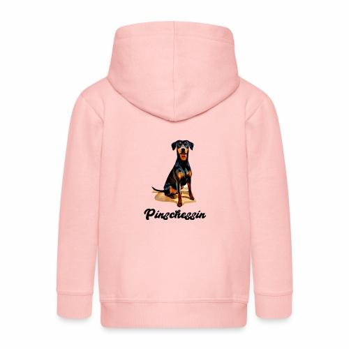 Deutscher Pinscher Pinschessin T-Shirt Hundemotiv - Kinder Premium Kapuzenjacke