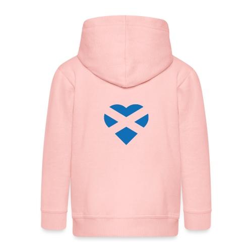 Flag of Scotland - The Saltire - heart shape - Kids' Premium Zip Hoodie