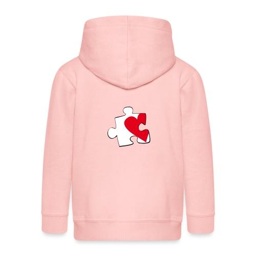 HEART 2 HEART HER - Felpa con zip Premium per bambini
