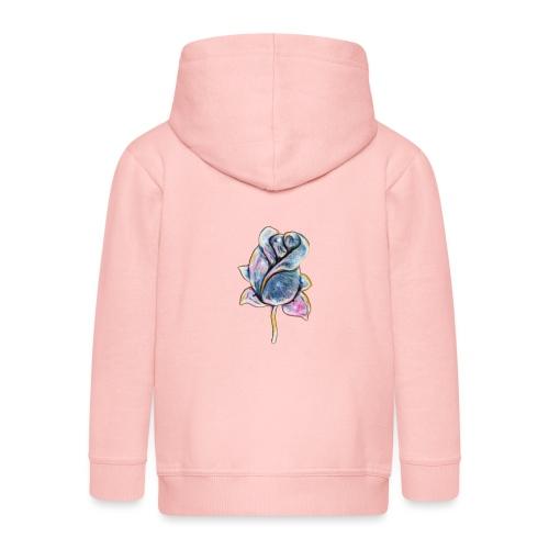 Fiore - Felpa con zip Premium per bambini