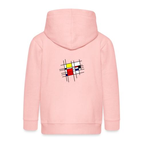 Inspiration Mondrian - Veste à capuche Premium Enfant