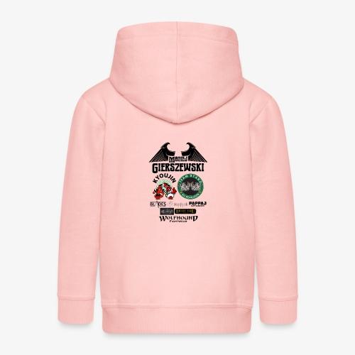 MACIEJ BACK png - Kids' Premium Zip Hoodie