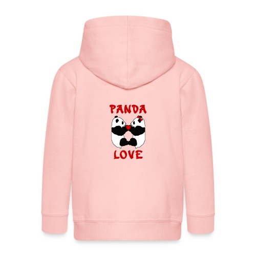 Panda Love - Kids' Premium Zip Hoodie