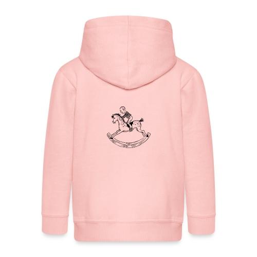 konik na biegunach - Rozpinana bluza dziecięca z kapturem Premium