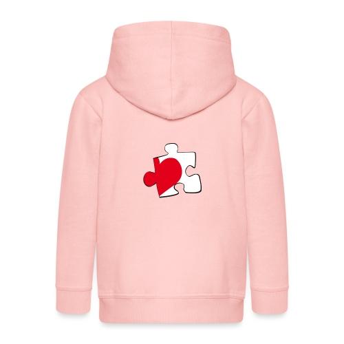 HEART 2 HEART HIS - Felpa con zip Premium per bambini