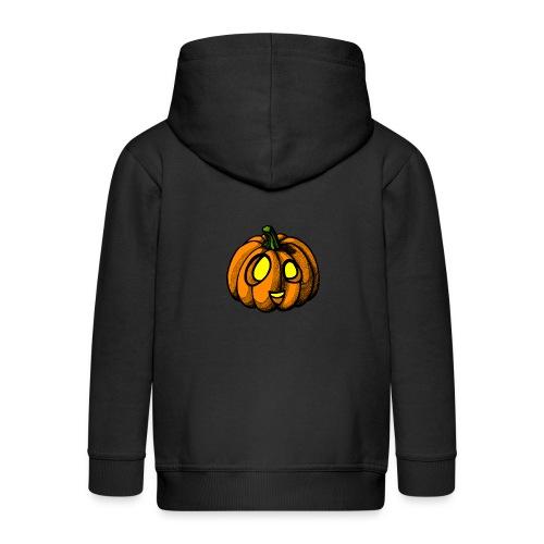 Pumpkin Halloween scribblesirii - Kids' Premium Zip Hoodie