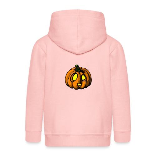 Pumpkin Halloween scribblesirii - Premium hættejakke til børn