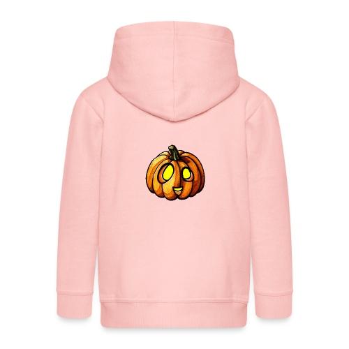 Pumpkin Halloween watercolor scribblesirii - Premium hættejakke til børn