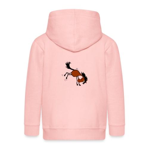 buckelndes Pferd - Kinder Premium Kapuzenjacke