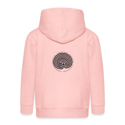 Labyrinth tria - Kinder Premium Kapuzenjacke