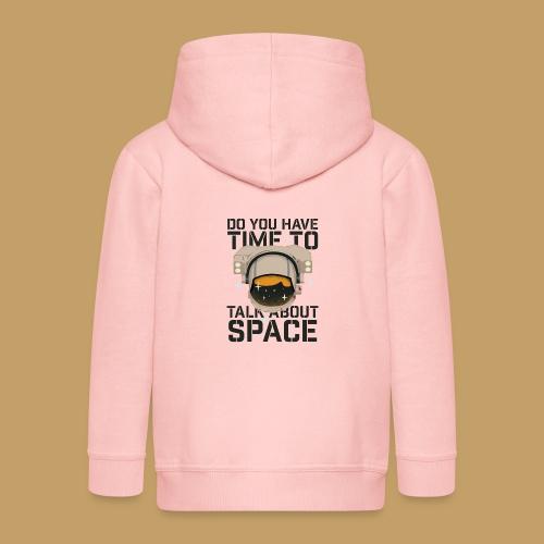Time for Space - Rozpinana bluza dziecięca z kapturem Premium