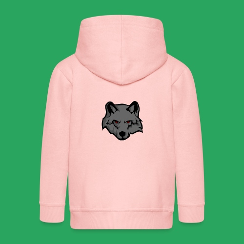 wolf logo - Felpa con zip Premium per bambini