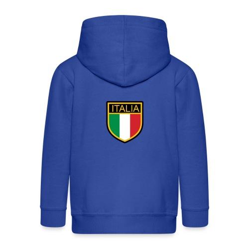 SCUDETTO ITALIA CALCIO - Felpa con zip Premium per bambini