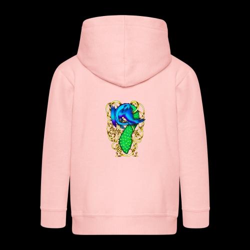 Peacock Dragon - Kids' Premium Zip Hoodie