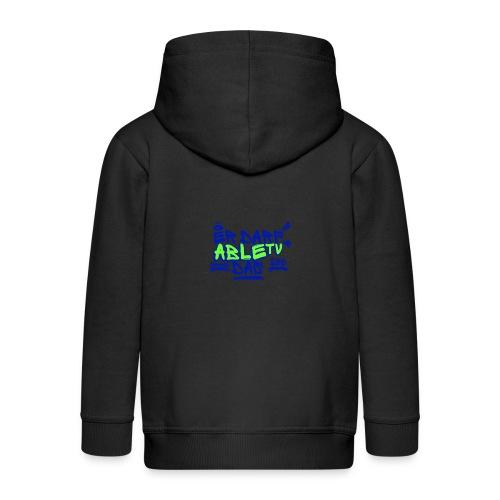 AbleTV Grafitti Logo Marken Shirt (Er Darf Das) - Kinder Premium Kapuzenjacke
