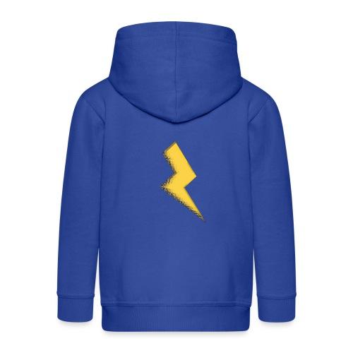 Fulmine - Felpa con zip Premium per bambini