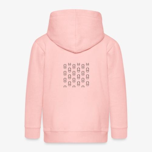 kaktus2 - Rozpinana bluza dziecięca z kapturem Premium