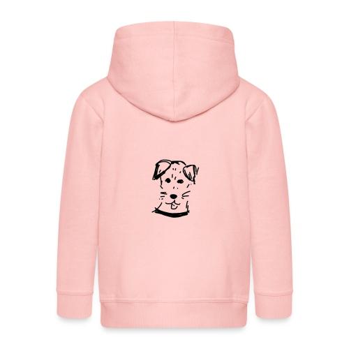 piesek a jpg - Rozpinana bluza dziecięca z kapturem Premium