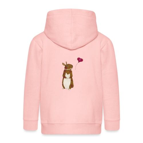 Valentine bunny - Kids' Premium Zip Hoodie