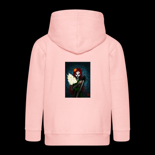 Death and lillies - Kids' Premium Zip Hoodie