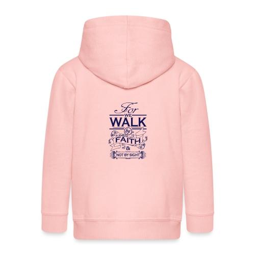 walk navy - Kids' Premium Zip Hoodie